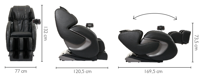 Размери Масажен стол Betasonic Braintronics