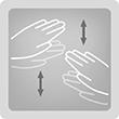 Разтриващ масаж - Разтриващи движения с леки потупвания (симулиращи дланите).