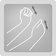 Tapping - При потупването се изпълняват кратки потупващи движения с ръба на ръката, дланта или юмрук.